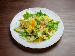 салат с семгой и апельсином
