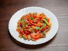 свинина по-китайски с овощами
